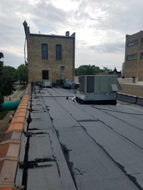 Roof coating before