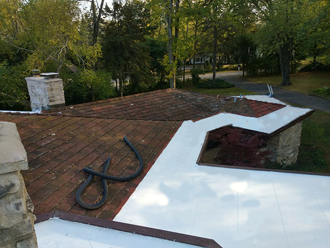 Fox Point Roof Coating After