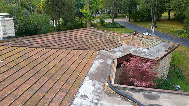 Fox point roof coating before